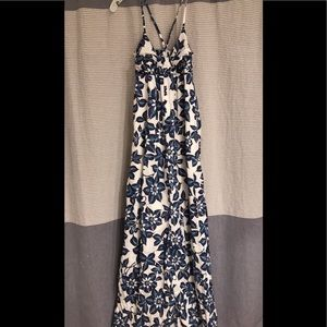 Small maxi dress blue white MODA International
